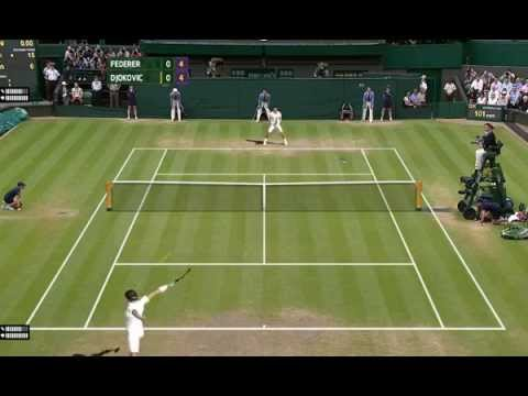 Roger Federer (SUI) vs Novak Djokovic (SRB), 2014 Wimbledon Final, simulation on Tennis Elbow 2013