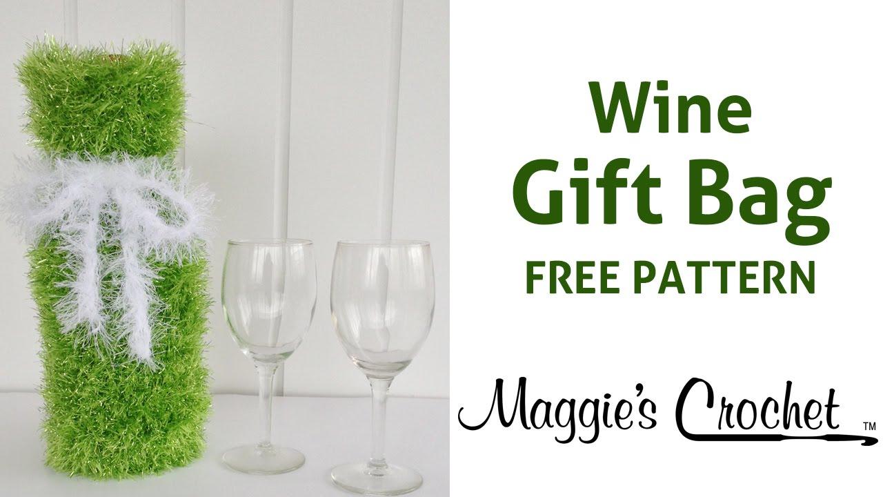 Free Crochet Pattern For Wine Bag : Merry Wine Gift Bag Free Crochet Pattern - Right Handed ...