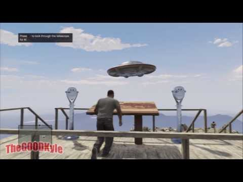 GTA 5: Mt. Chiliad UFO in the Daytime