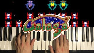 How To Play - Galaga Theme (PIANO TUTORIAL LESSON)
