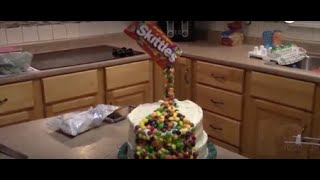 HOW TO MAKE A SKITTLES TOWER CAKE FOR KIDS