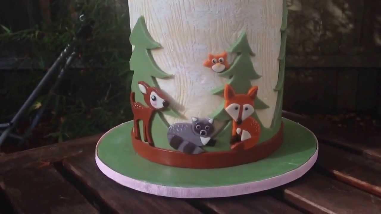 Image Result For Woodland Birthday Cake Topper