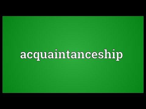 Header of Acquaintanceship
