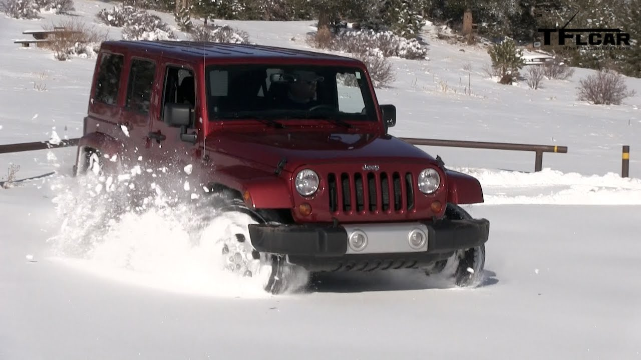 Lifted Jeep Cherokee >> 2013 Jeep Wrangler Snow Drive Freedom Top Review: Jeep Week Video #7 - YouTube