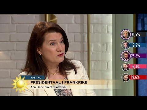 """Ann Linde: """"Macron var först med att skicka sms efter terrorattacken""""  - Nyhetsmorgon (TV4)"""