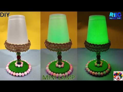 How to make a night lamp at home || DIY mini Lamp || Raj easy craft