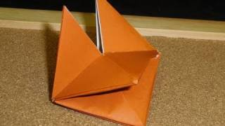 Daily Origami:  067 - Fox Puppet