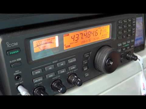 Amateur Radio satellite SEEDS II co-66 beacon oct 15th 2012