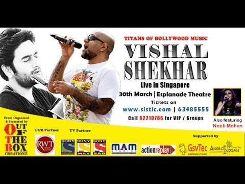 Vishal Shekhar Performs Live In Singapore 30th March 2014 At Esplanade