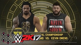 WWE Roadblock:  Roman Reigns vs. Kevin Owens - WWE Universal Title Match — WWE 2K17 Match Sims