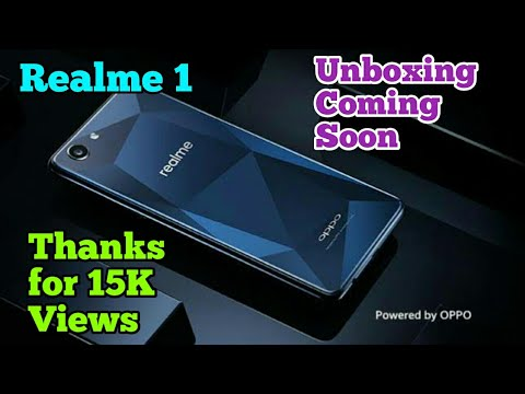 Realme 1 smartphone unveil on Amazon 15 May 2018 with Glass body design and affordable price by OPPO