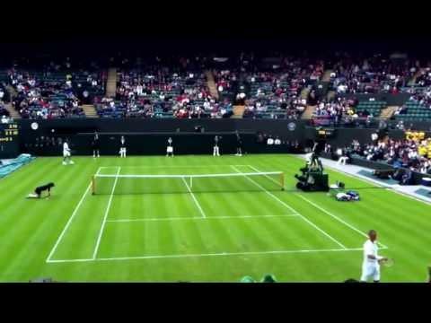Lleyton Hewitt beats Stanislas Wawrinka First Round Wimbledon 2013 Court One