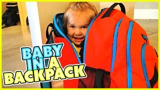 👶BABY IN A BACKPACK! 👶PUPPY GOES DOWN THE SLIDE 🐶SMELLYBELLYTV   FAMILY VLOG