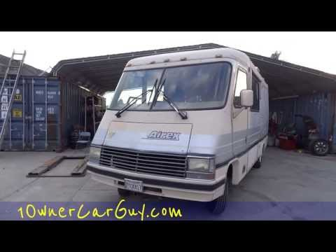 RV Motorhome Airex / Rexhall Fiberglass Coach Video Review 1990 Class A For Sale $3500