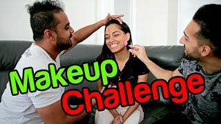GUYS VS GIRLS - 5 Minute Makeup CHALLENGE
