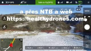 DJI GO a možnosti dohledání drona při nouzovém přistání