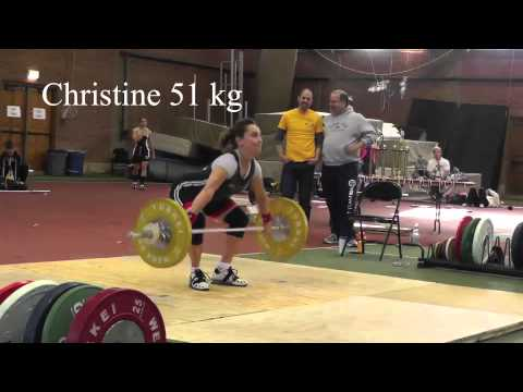 2013 Trinity College Weightlifting Meet: Women's Snatch Lift Image 1