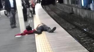 Drunk Japanese Guy VS The Train Attendant