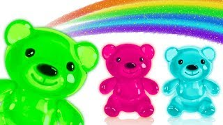 Gummy Bear Little Baby Song Learn Colors with Surprise Eggs Finger Family Nursery Rhymes for Kids