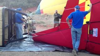 Hot Air Balloon Setup and Takeoff
