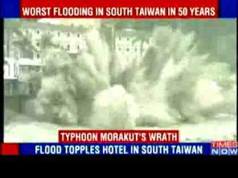RAW Video: 1 million evacuated as typhoon hits Taiwan - 08-09-09