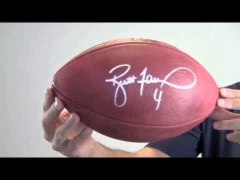 Brett Favre Signed Super Bowl XXXI Football - SM Holo