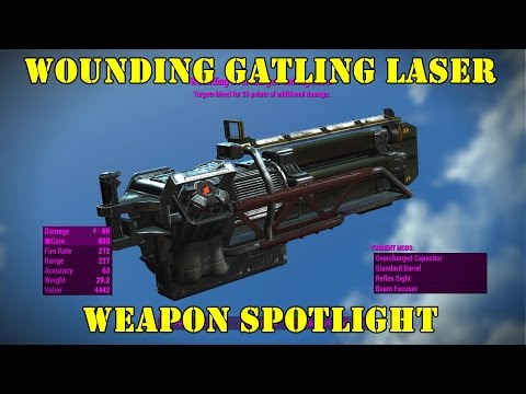 Fallout 4: Weapon Spotlights: Wounding Gatling Laser