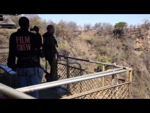 Bungee jumping at Victoria Falls (111m )