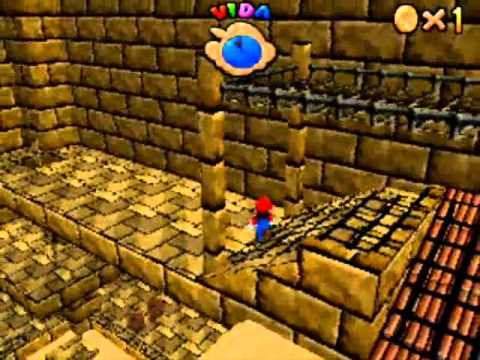 Super Mario 64 DS Fase 8: Arenas ardientes Estrellas 1-4