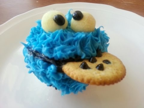 COOKIE MONSTER CUPCAKES - How to make - YouTube