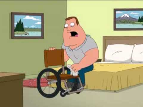 Family Guy-Joe Swanson-wheel chair creed Video