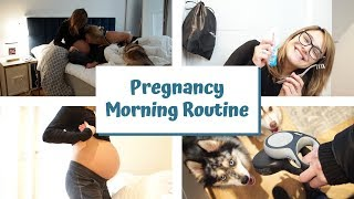 My Realistic Pregnancy Morning Routine | 3rd Trimester