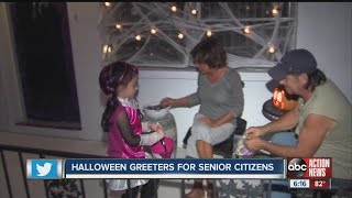 Halloween greeters for senior citizens