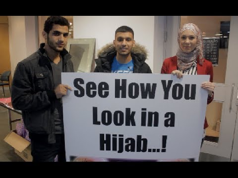 STRANGERS TRYING THE HIJAB!