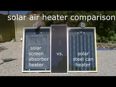 Solar Air Heater Comparison! - Steel Can Heater vs. Screen Absorber Heater (temp. tests)