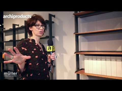 Imm Cologne 2017   Muller - Evelyn Hummel ci racconta Scala la nuova libreria modulare