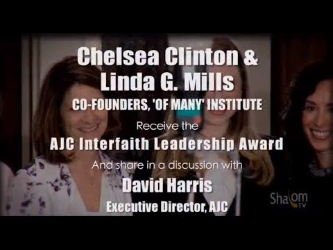 Chelsea Clinton & Linda Mills - 'Of Many' Institute Honored by AJC