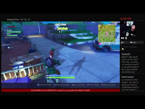How NOT to play Fortnite!!! Celebrity Dysfunction Gaming / PS4 Broadcast