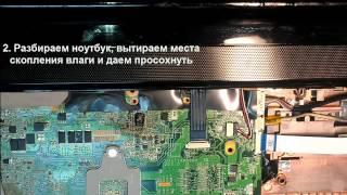 Залил ноутбук, что делать? Советы от инженера по ремонту компьютеров.