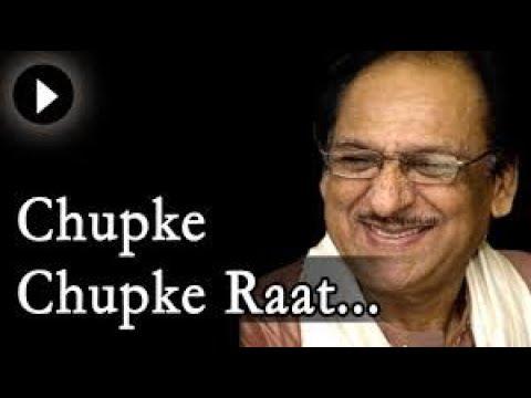 Chupke Chupke Raat Din Aansu Bahana Yaad Hai Ghulam Ali   Youtube Flv video