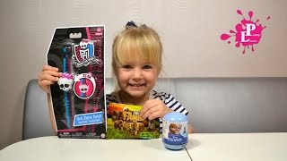 ✿Часы Монстр Хай, Skull Digital Watch Monster High,Frozen surprise egg toys.