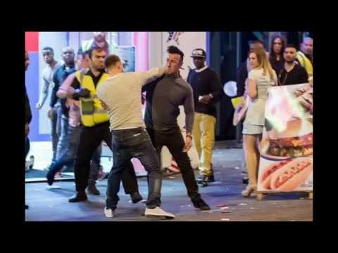 England fans scrap on the streets after Three Lions defeat against Italy in opening match