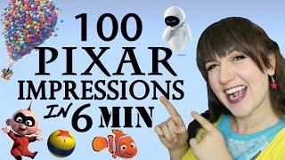 100 Pixar Impressions in 6 Minutes - Madi2theMax