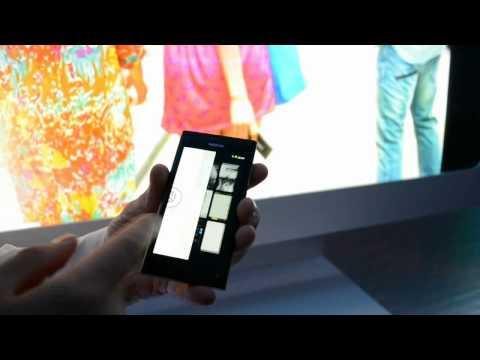 Демонстрация Nokia N9 на официальной презентации в Сибири