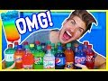 MIXING EVERY SODA FLAVOR TOGETHER - TASTE EXPERIMENT!