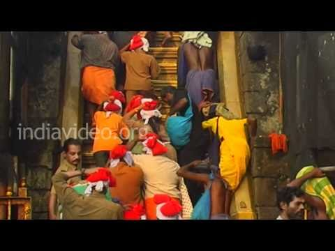 Eighteen Steps in Sabarimala, Kerala