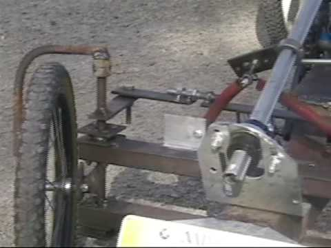 Kart with pedals (cyclekart) : conception
