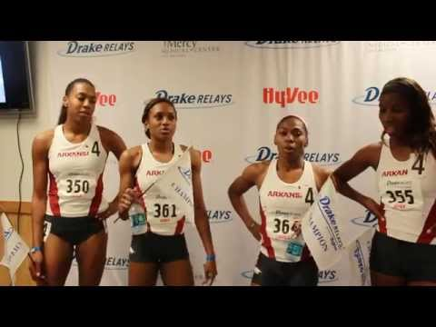 Arkansas - Swinton, Harper, Williams, Ellis-Watson | Post Drake Relays Victory 2015
