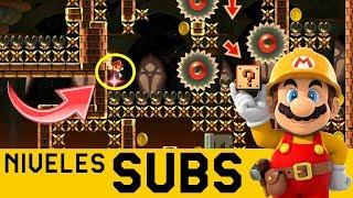 UNA PRECISIÓN QUE HACE SUFRIR A MARIO 😲- Niveles de Suscriptores #33   Super Mario Maker - ZetaSSJ