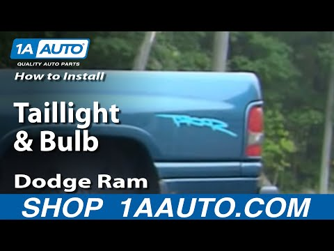 How to Install Replace Taillight and Bulb Dodge Ram 94-01 1AAuto.com